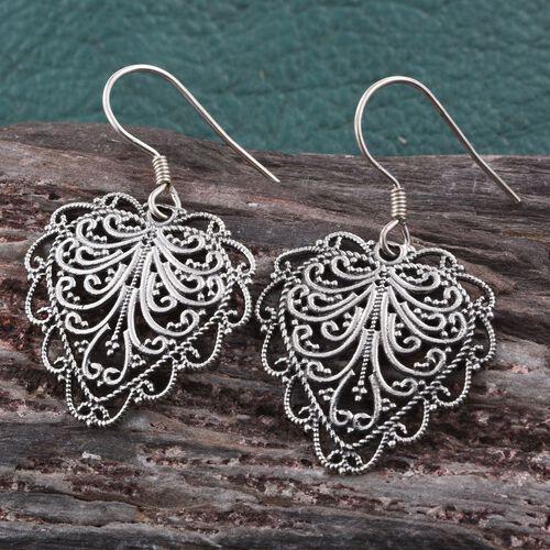 Sterling Silver Hook Earrings, Silver wt 5.10 Gms.
