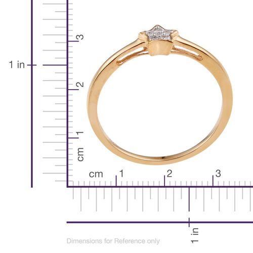Diamond (Rnd) Star Stacker Ring in 14K Gold Overlay Sterling Silver
