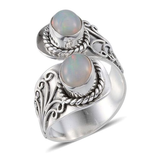 Jewels of India Ethiopian Welo Opal (Ovl) Ring in Sterling Silver 1.760 Ct.