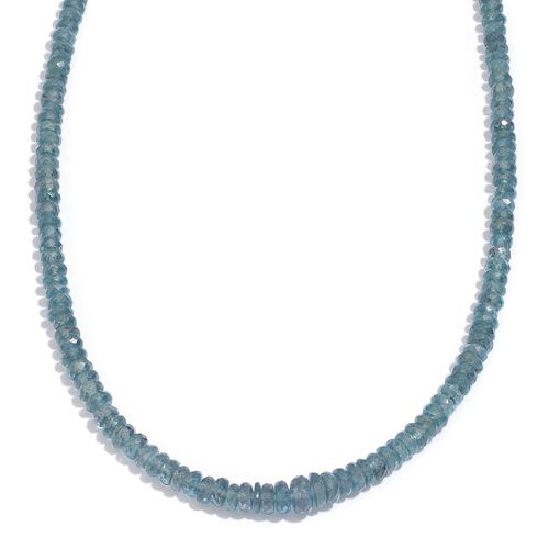 14K Y Gold Teal Kyanite (Rnd) Necklace (Size 18) 62.070 Ct.