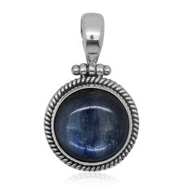 (Option 1) Royal Bali Collection Himalayan Kyanite (Rnd) Pendant in Sterling Silver 16.920 Ct.