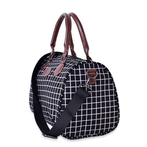 City Classic Water Resistant Bowler Bag with Removable and Adjustable Strap (Size 28x21x18 Cm)