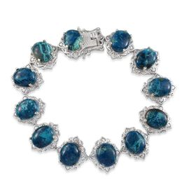 Table Mountain Shadowkite (Ovl) Bracelet in Platinum Overlay Sterling Silver (Size 7.5) 35.250 Ct.