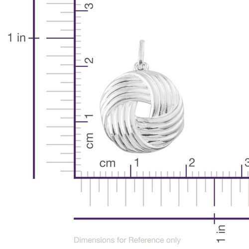 (Option 3) Sterling Silver Knot Pendant, Silver wt 5.64 Gms.