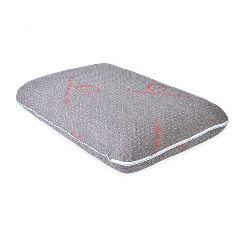 Dual Side Soft and Firm Memory Foam With Bamboo Charcoal Fabric Cover (Size 65x45 cm)