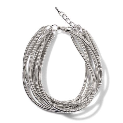 Multi Strand Bracelet (Size 7.5) in Silver Tone