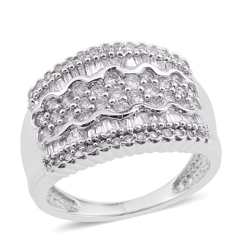 Close Out Deal 9K W Gold Diamond Ring 1.000 Ct.