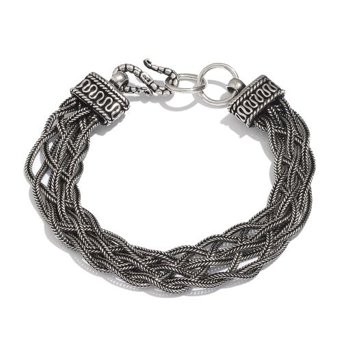 Sterling Silver Braided Bracelet (Size 7.5), Silver wt 21.20 Gms.