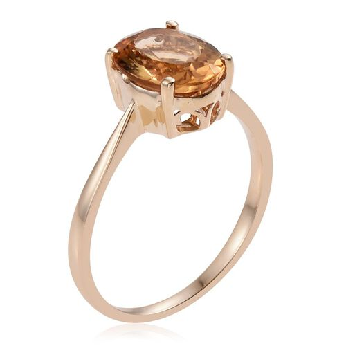 9K Y Gold Marialite (Ovl) Solitaire Ring 3.000 Ct.