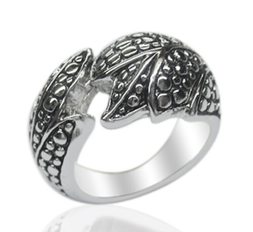 Designer Inspired Platinum Overlay Sterling Silver Ring