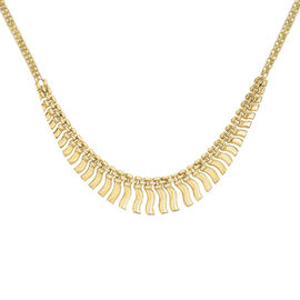 Close Out Deal Italian 9K Yellow Gold Anthony Necklace (Size 17), Gold wt 10.50 Gms.
