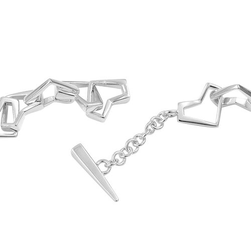 RACHEL GALLEY Sterling Silver Love and Peace Necklace (Size 17), Silver wt 58.00 Gms.