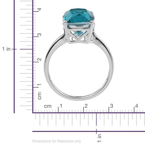 Capri Blue Quartz (Cush) Solitaire Ring in Sterling Silver 5.750 Ct.