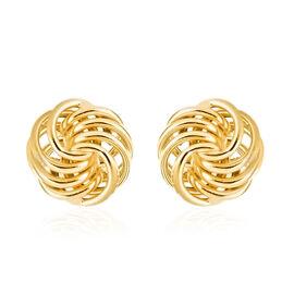 DOD - Italian 9K Y Gold Knot Stud Earrings