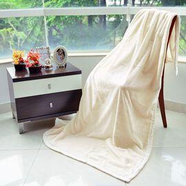 Superfine Microfibre Plush Silk-Feeling Blanket White (150x200 Cm)