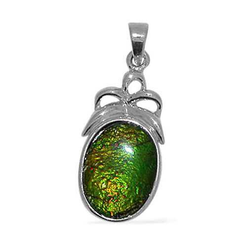 Canadian Ammolite Pendant in Sterling Silver 6.000 Ct.