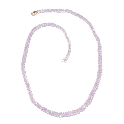 Limited Edition ILIANA 18K Y Gold AAAA Very Rare Marropino Morganite Necklace (Size 18) 57.150 Ct.
