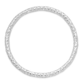 RACHEL GALLEY Sterling Silver Allegro Bangle (Size 8.25 / Large), Silver wt 19.20 Gms.