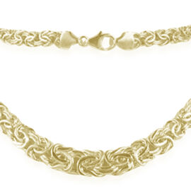 9K Y Gold Byzantine Necklace (Size 20), Gold Wt. 14.61 Gms.