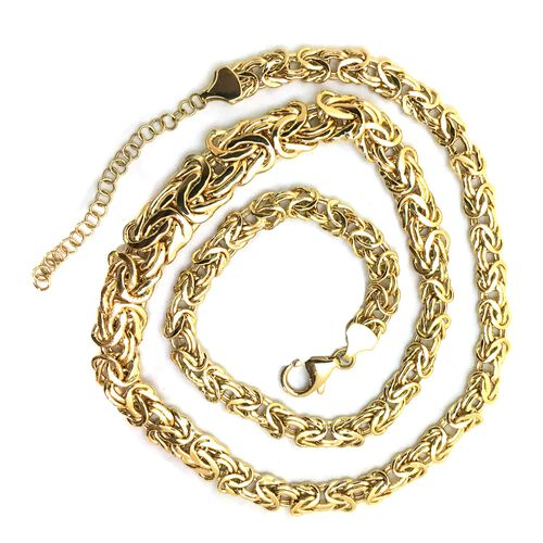 JCK 2017 Collection - Italian Hand Made ILIANA 18K Y Gold Byzantine Necklace (Size 20 with Extender), Gold Wt. 17.00 Gms.