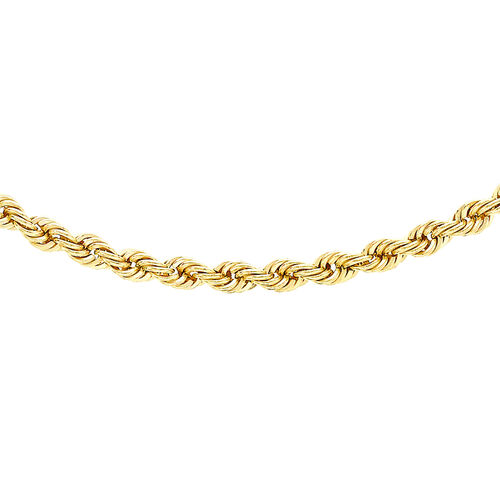 Close Out Deal 9K Y Gold Rope Necklace (Size 24), Gold wt 3.10 Gms.