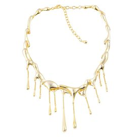 LucyQ Multi Drip Necklace (Size 20.5 with Extender) in Yellow Gold Overlay Sterling Silver 80.90 Gms.