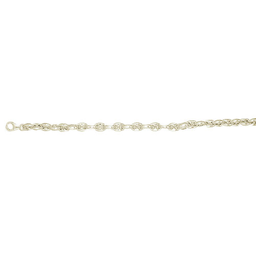 JCK VEGAS SHOW Yellow Gold Overlay Sterling Silver Mariner Bracelet (Size 7.5), Silver wt 11.73 Gms.