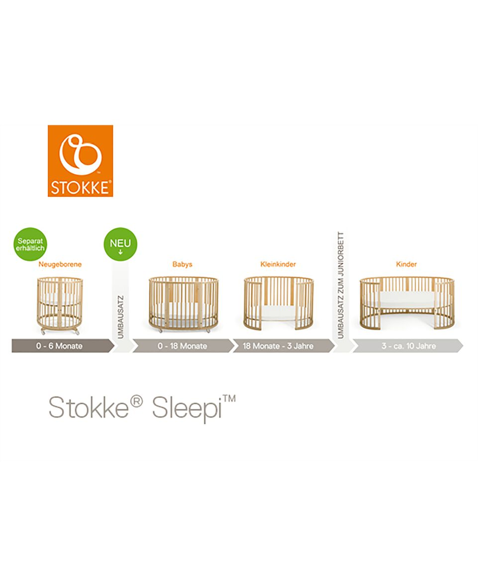 stokke sleepi bett natur. Black Bedroom Furniture Sets. Home Design Ideas