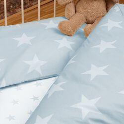 Bettwäsche Renforcé Sterne blau