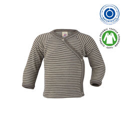Baby-Wickelshirt Walnuss/Natur