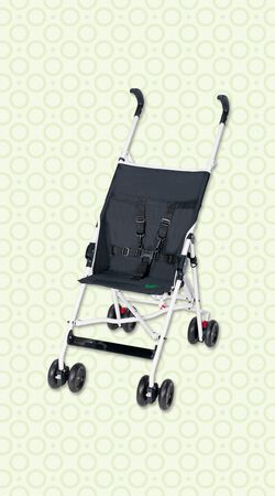 Sitzbuggy Summer black + white