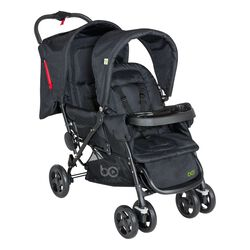 Zwillingsbuggy Duo black