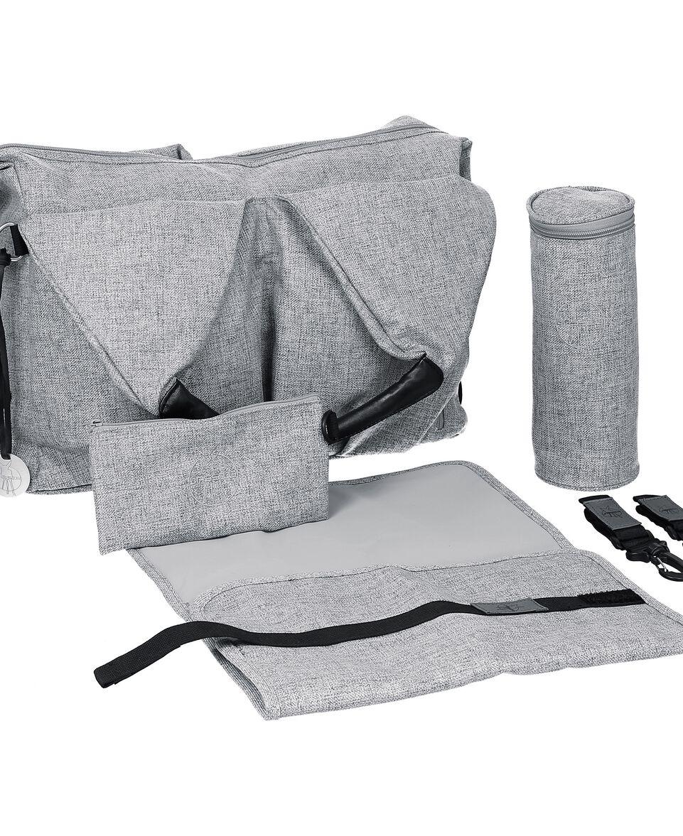 Green Label Neckline Bag black melange grey