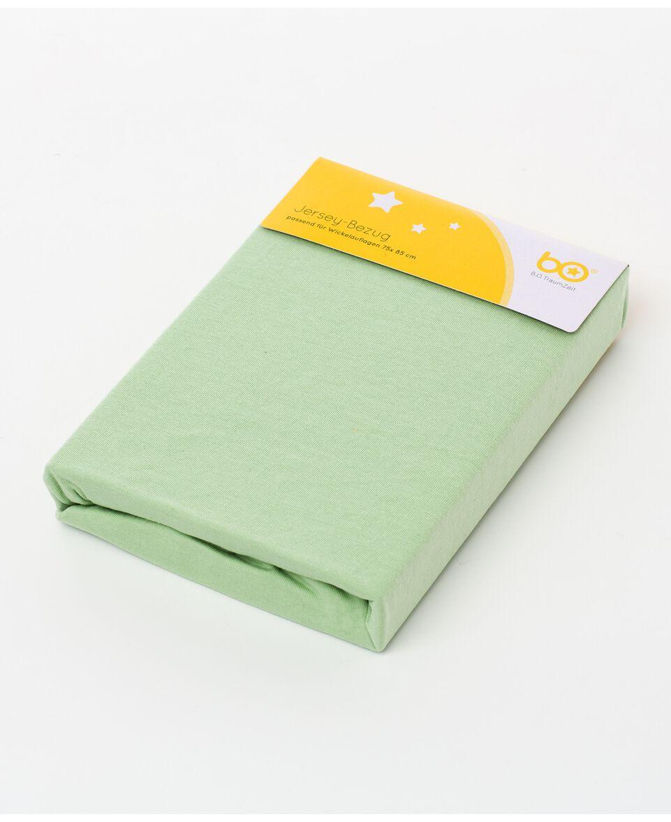 Wickelauflagenbezug Jersey grün