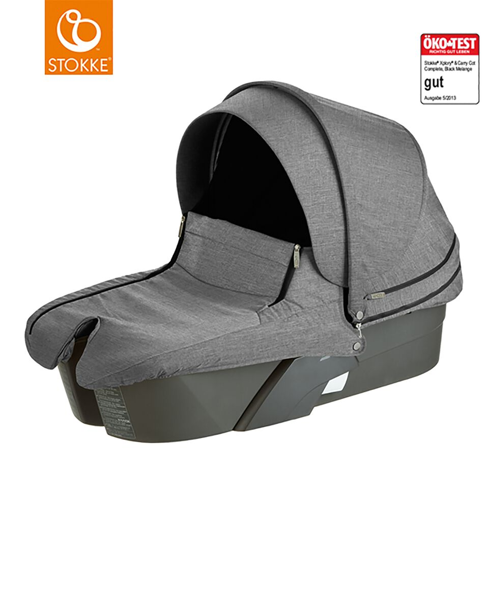 stokke kinderwagen babyschale black melange. Black Bedroom Furniture Sets. Home Design Ideas