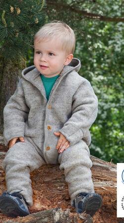 Baby-Overall Hellgrau Melange