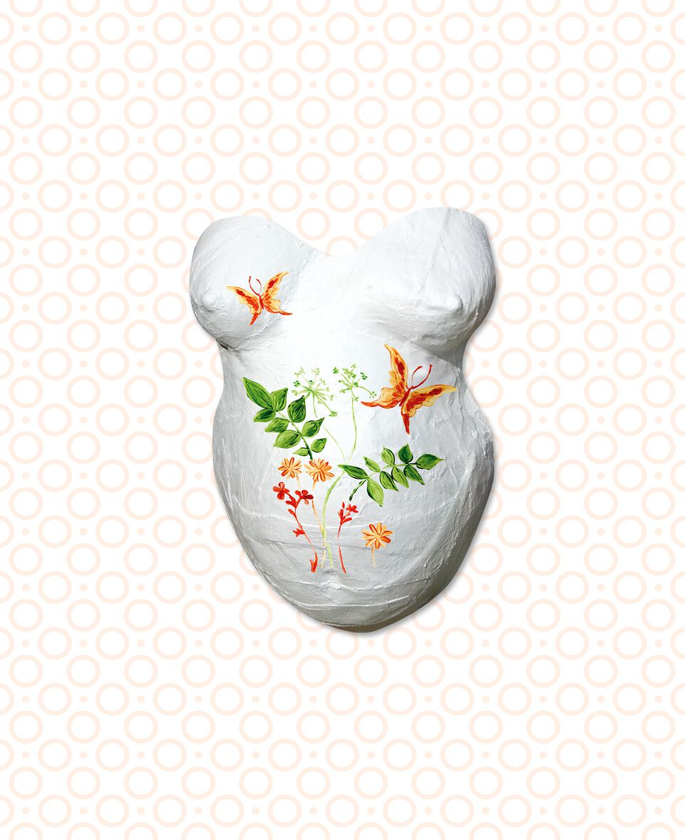 3D Gipsabdruck Babybauch inkl. Farbe