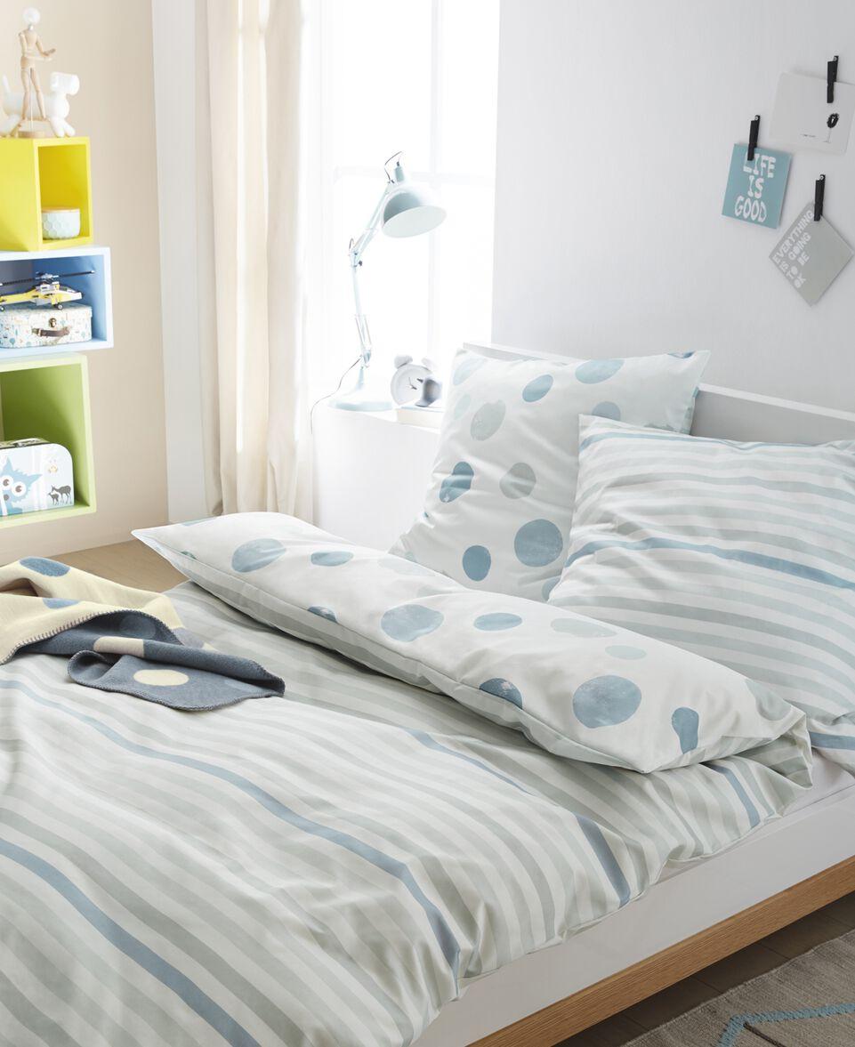 Wende-Bettwäsche Streifen