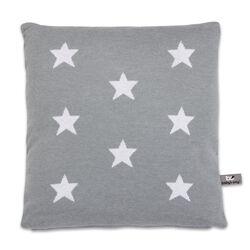 Kissen Star grau / weiß
