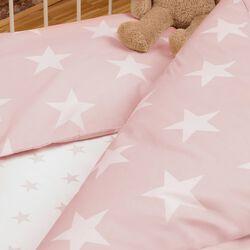 Bettwäsche Renforcé Sterne rosa