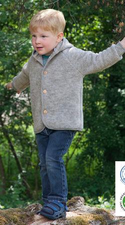 Baby-Kapuzenjacke Hellgrau Melange