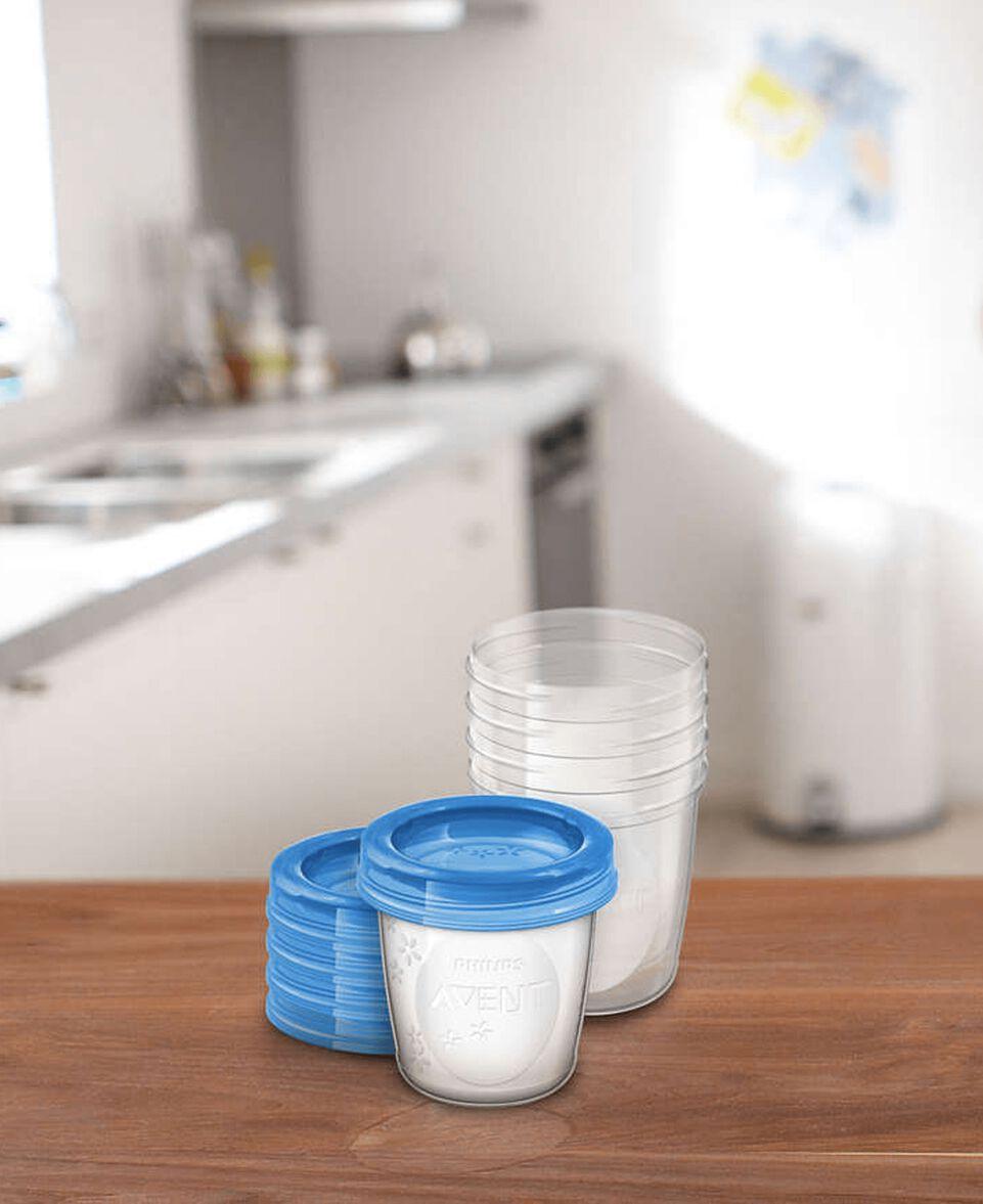 5 Stück Muttermilchbehälter