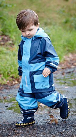 Regen-Anzug Basic marine/hellblau