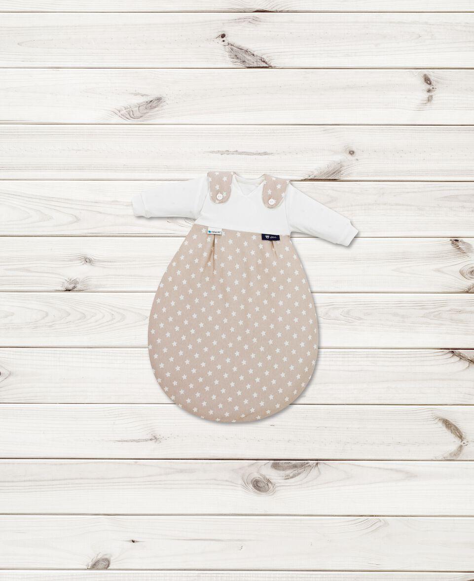 Baby Mäxchen Tencel Stars beige Gr. 50/56