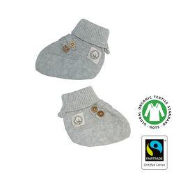 Strick Babyschuhe mit Knöpfchen