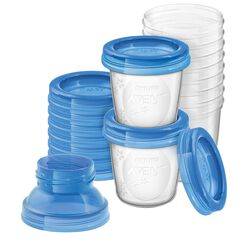 10 Stück Muttermilchbehälter