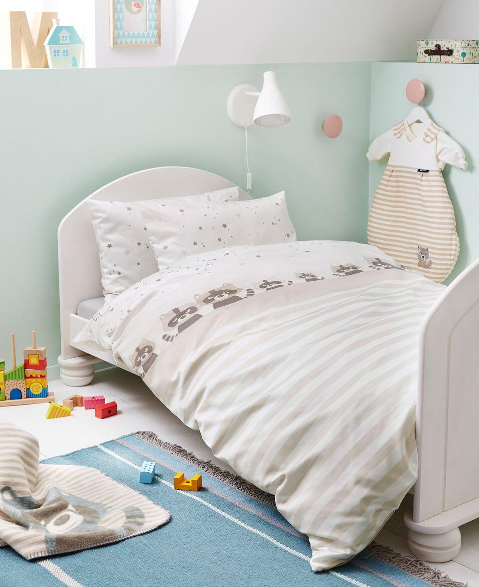 Wende-Bettwäsche Waschbär