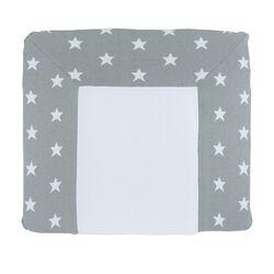Wickelauflagenbezug Star grau / weiß