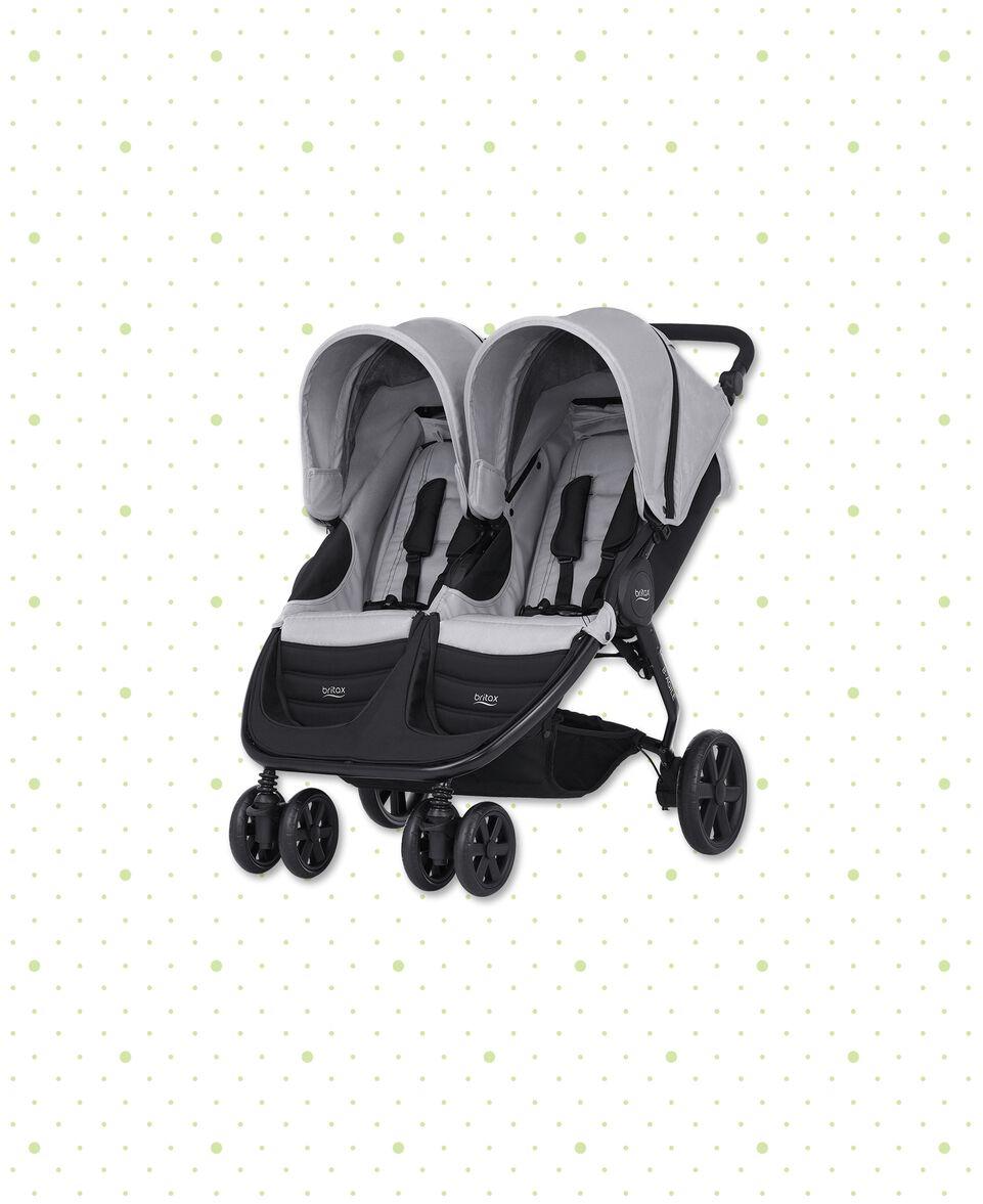 Geschwisterwagen B-Agile Double Steel Grey