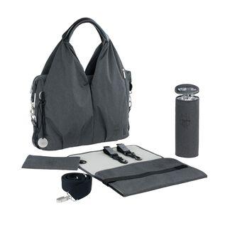Neckline Bag Spin Dye black melange